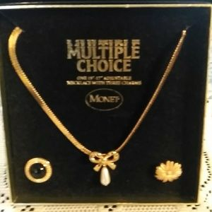 Monet Jewelry - MONET MULTIPLE CHOICE NECKLACE WITH CHARMS